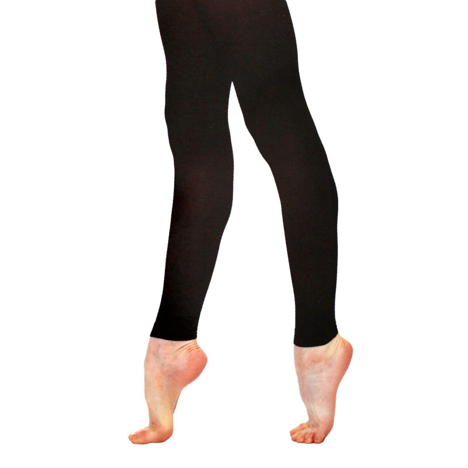 Girls High Quality 60 Denier Footless Ballet Dance Tights Age 3-5Yrs 5-7Yrs TAN