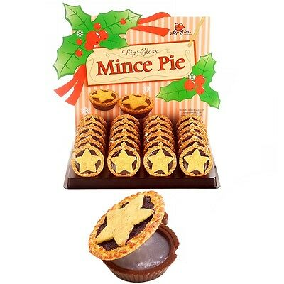Mince Pie Lip Gloss/Balm Novelty Christmas Stocking Filler Gift Fruit Flavour