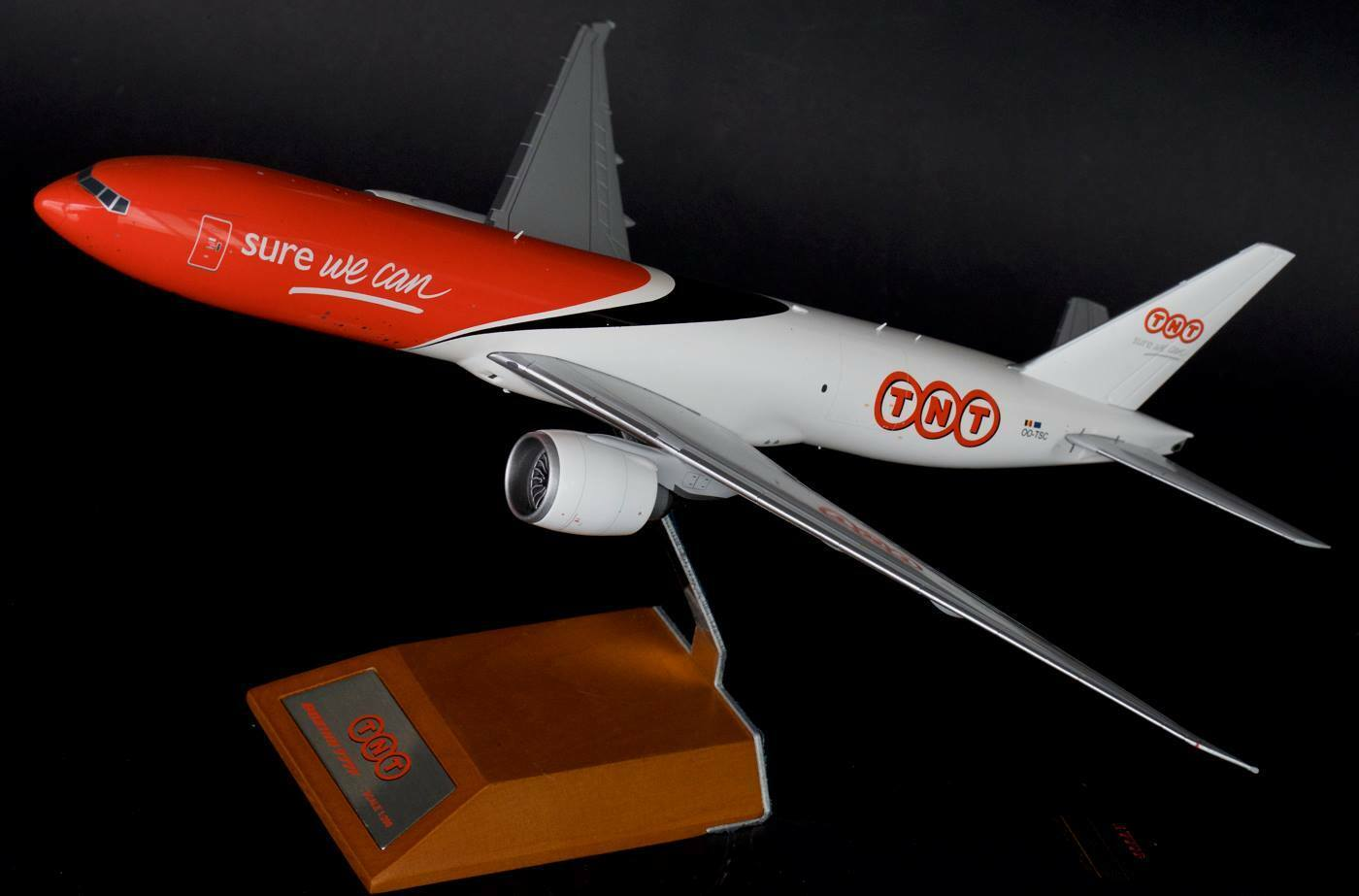 JC WINGS JC2227 1 200 TNT BOEING 777F WITH STAND
