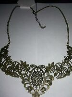 Victorian Vintage Lace Style Necklace Yoke Filigree Ships Today