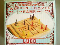 MINI WOODEN TRAVEL LUDO GAME by HOUSE OF MARBLES - NEW