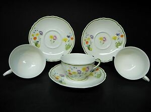 DENBY-ENGLISH-GARDEN-SET-OF-3-CUPS-AND-SAUCERS