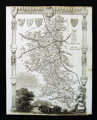 BUCKINGHAMSHIRE Thomas Moule Printed Replica of 1842 County map 40cm x 30cm