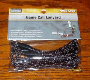 AVERY GREENHEAD GEAR GHG QUAD 4 LOOP GAME CALL LANYARD DUCK GOOSE DECOYS NEW!