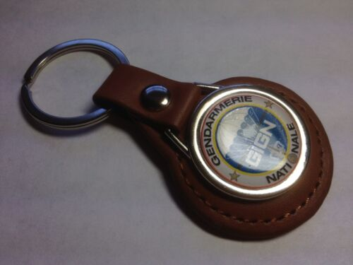 GIGN \ Gendarmerie French  Police  Agency Leather Key Ring  GIFT