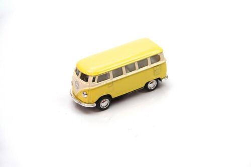 "2.5"" Kinsmart 1962 VW Volkswagen Bus Diecast Model Toy Car 1:64 Pastel Yellow"