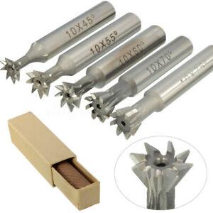 "5 Pcs 3//8/"" X 60 Degree Premium HSS Dovetail Cutter Set Milling High Speed Steel"