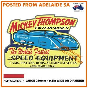 NEW-VINTAGE-MICKEY-THOMPSON-SPEED-EQUIP-STICKER-X-LARGE-240mm-DIA-WIDE-HOT-ROD