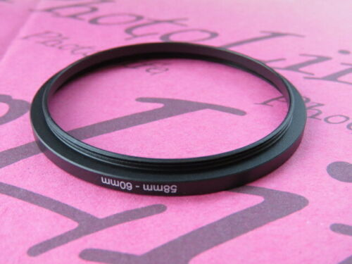 58mm to 60mm Stepping Step Up Filter Ring Adapter 58mm-60mm