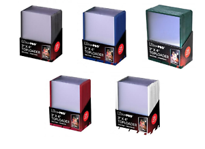 125 Ultra Pro Green Red White Blue Black Border Color Assortment Toploaders