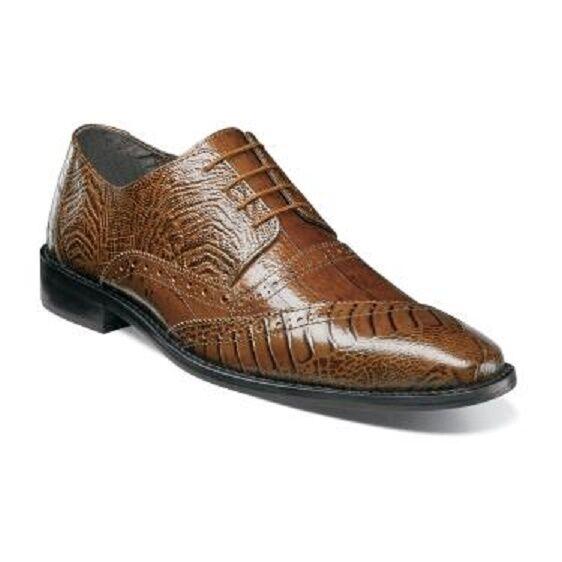 Garzon Stacy Adams Adams Adams Men schuhe Mustard Ostrich leg eelskin print leather 25028-701 c73831