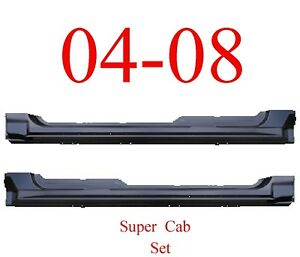 Rocker Panel Replacement fits 04-08 Ford F150 F Super Cab-PAIR
