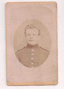 Vintage-CDV-German-Soldier-Military-Uniform-B-Glatz-Photo-Rastatt