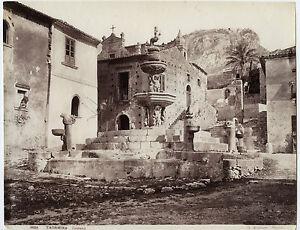 Italia Taormina Fontana Foto Sommer Vintage Albumina Ca 1875