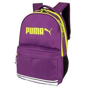 Puma 17 Sidewall Purple Yellow Bookbag Backpack 16x12x8
