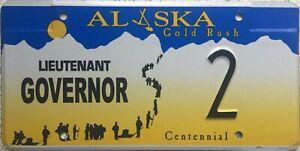 GENUINE-Alaska-Goldrush-Centennial-Lieutenant-Governor-License-Number-Plate-2