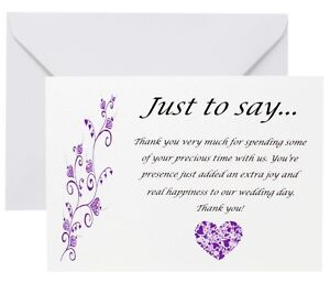 Personalised-Wedding-Thank-you-cards-any-colour-and-any-message-FREE-P-P