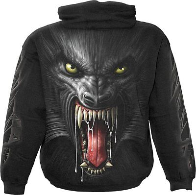 SPIRAL DIRECT LYCAN TRIBE Hoody//Tattoo//Goth//Skull//Gift////Rock//Wolf//Vampire//Hood