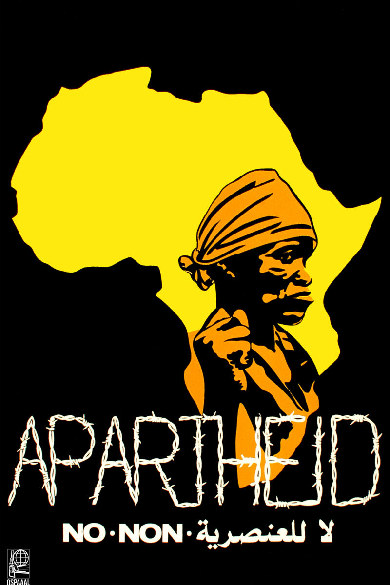 16x20 Decoration CANVAS.Room design art.Political Africa No to Apartheid.6502