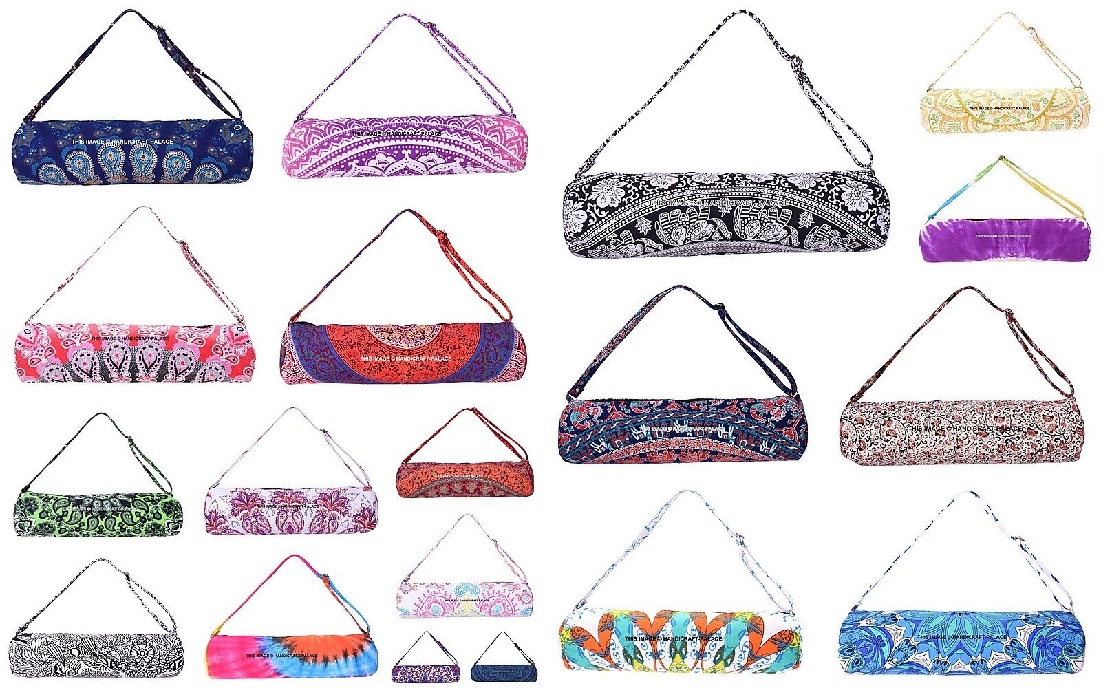 10 PC Wholesale Lot Indian Yoga Mat Bag Hippie Unisex Yoga Gym Mat Carrier Bag