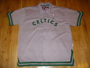 the best attitude 03b31 d5492 Details about NIKE REWIND GRAY 1925 BOSTON CELTICS RETRO MENS NBA THROWBACK  JACKET JERSEY XXL
