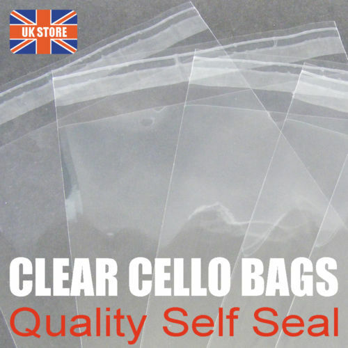 50 x 5 inch Square 130mm Self Seal Cellophane Cello Bags