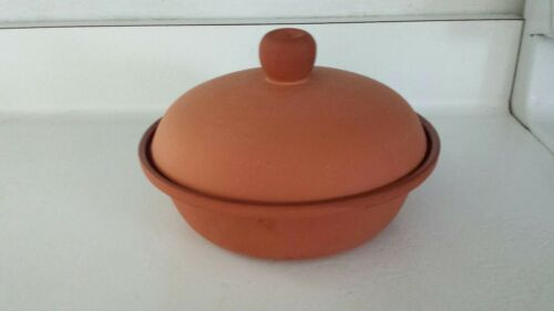 "NEW 1 Quart Terra Cotta Clay Baker Dutch Oven Set of 2 8 1//2/"" Bread Baker"