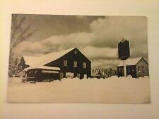 Vtg 1950's POSTCARD Vermont Guild Museum & Stone Grist Mill bldgs., Weston VT