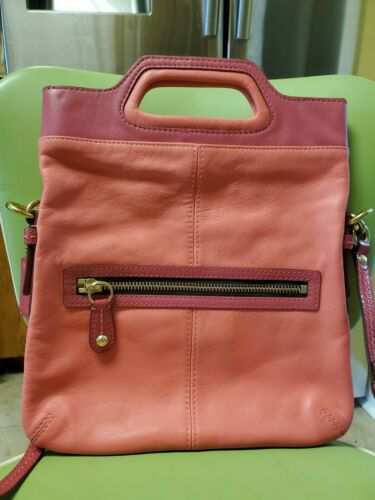 Coach Vintage Pink Leather Crossbody Purse 13388