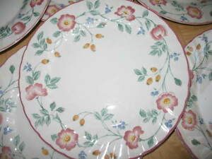 Image is loading Churchill-Staffordshire-Fine-English-Tableware -Briar-Rose-Dinner- & Churchill Staffordshire Fine English Tableware Briar Rose Dinner ...