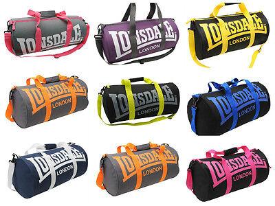 Modestil Lonsdale Barrel Gym Sports Fitness Running Bag Holdall Various Colours