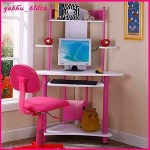 Kids Desk Computer Writing Center Table Workstation Girls Bedroom ...