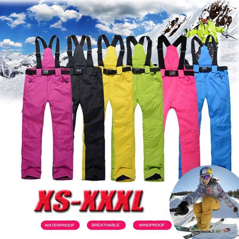 Ski Pants Outdoor Sport Suspenders Trouser Men Windproof Waterproof Warm Wint SL