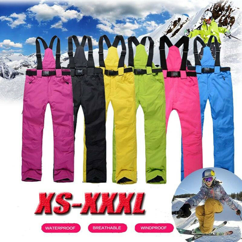 Ski Pants Outdoor Sport Suspenders Trouser Men Windproof Waterproof Warm Wint CH