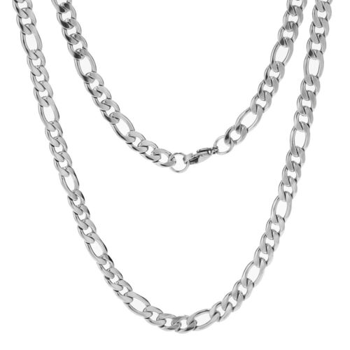 Figaro Necklace Chains Stainless Steel Cuban Link Necklaces 6MM Jewelry Classic