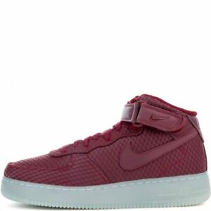 Nike Men's AIR FORCE 1 MID '07 LV8 Shoes Team Red 804609-603 b