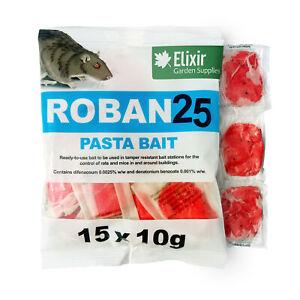 Roban 25 Pro Rat Mouse Mice Poison Pasta Bait Rodent Fast Killer