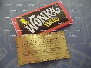 Willy Wonka Chocolate Factory Replica Wonka Bar And Golden Ticket