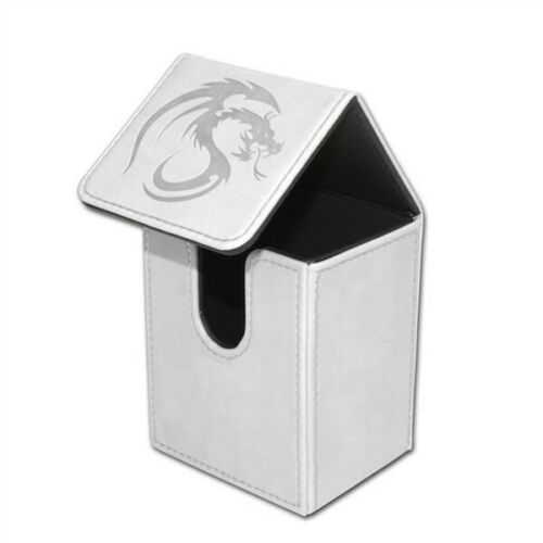 BCW White Deck Case LX Gaming Card Leatherette Magic the Gathering Storage Box