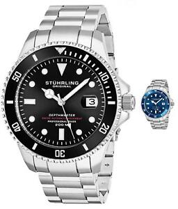 Stuhrling-Men-039-s-Swiss-Automatic-883-DEPTHMASTER-Professional-Dive-Watch