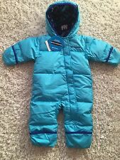 Columbia Infant Girl Snuggly Bunny Bunting Down Fill Blue NWT 6-12 Months