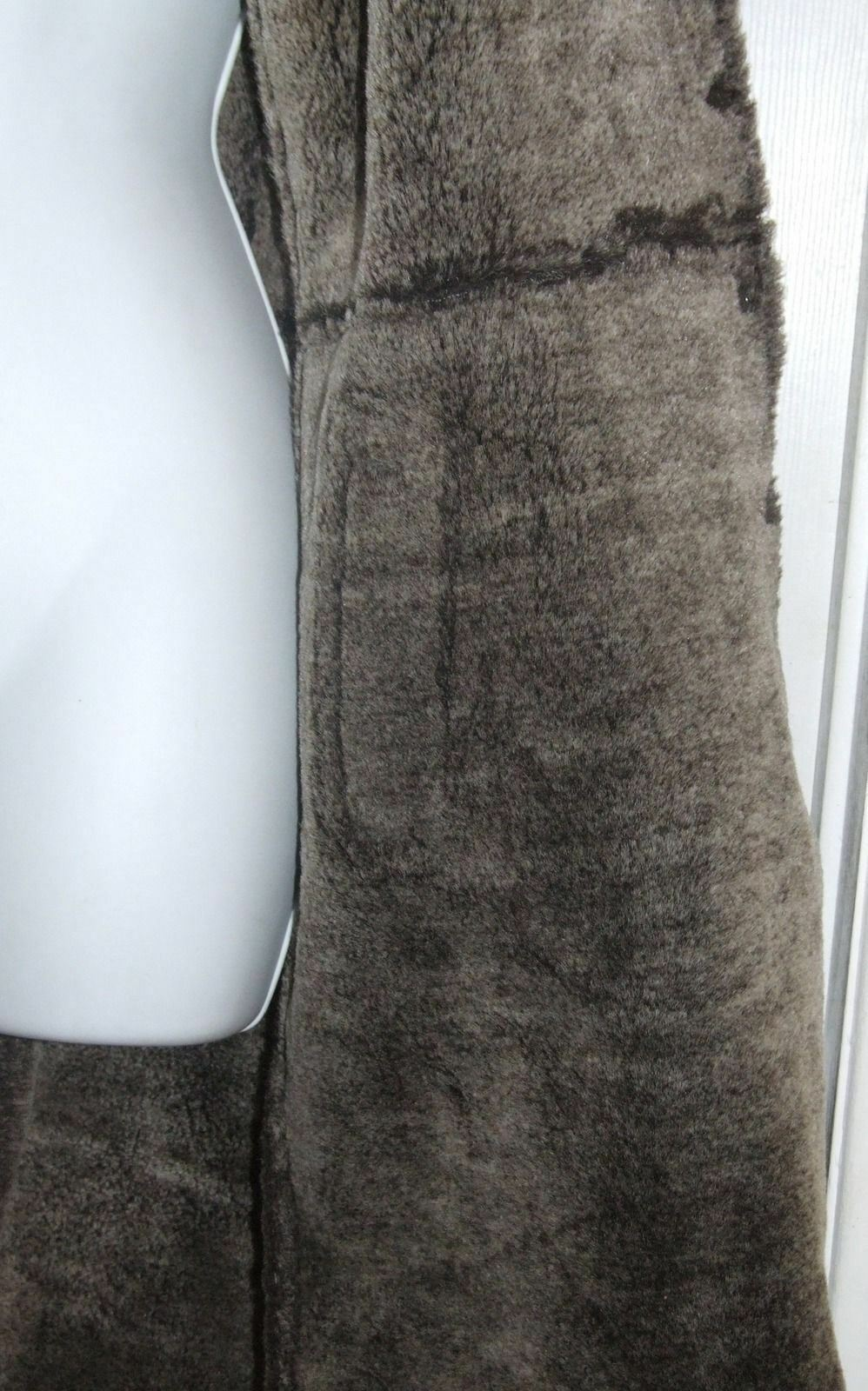 Express Brown Suede Suede Suede Long Coat with Faux Fur Trim Size M 5227ab