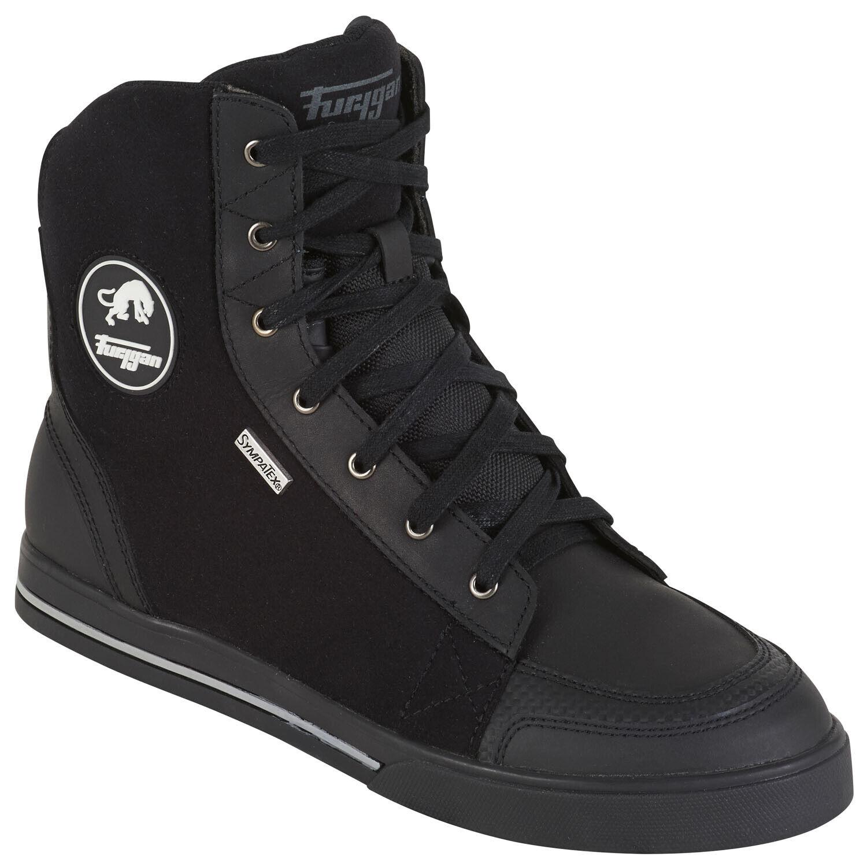 Furygan Ted D3O Men's Sympatex Motorcycle Shoes Leather - Black