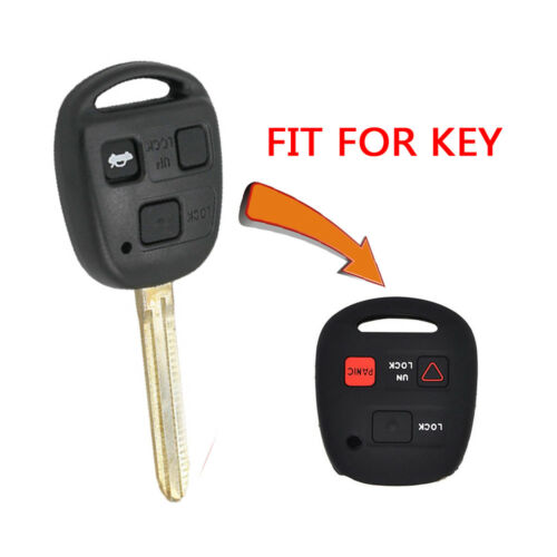 3 Buttons Silicone Remote Key Fob Cover Case Fit Lexus Gx470 Rx350 Es300 1pc