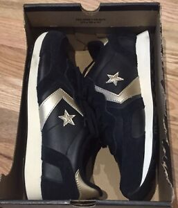 e47d2b63a454 Converse Auckland Racer OX 146390C Black   Gold ALL STAR Men s Sz 3 ...
