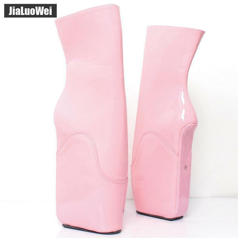 Women Women Women Ballet Boots 18cm High Wedge Heel Hoof Sole Heelless Fetish Exotic shoes G 185c51