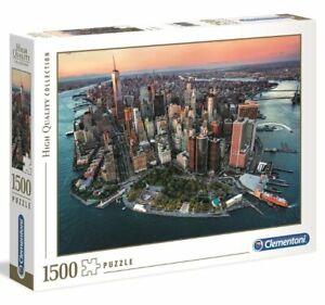 Clementoni NEW YORK PUZZLE 1500 pieces Lower Manhattan Brooklyn Bridge
