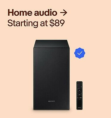 Home audio Starting at $89