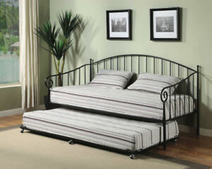 Kings Brand Furniture Black Metal Twin Size Day Bed Daybed Frame