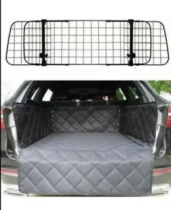 Mesh Headrest Pet Dog Guard 12+ Quilted Boot Liner For BMW F30 F31 3 SERIES